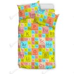 Chemistry Periodic Table Colorful Printed Bedding Set Bedroom Decor