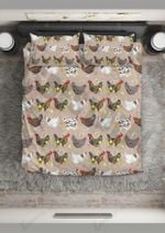 Chicken Bright Night Printed Bedding Set Bedroom Decor