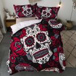 3D Sugar  Skull Style Black Red Bedding Set Bedroom Decor