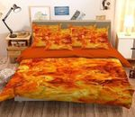 3D Burning Flame Printed Bedding Set Bedroom Decor