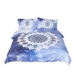 Beddingoutlet 3 Pcs Vintage Cobalt Blue Mandala Hippie  Bedding Set Bedroom Decor