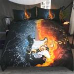 3D Bass Guitar Artistic Pod Printed Bedding Set Bedroom Decor