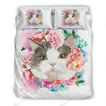 Cute Flower Cat Bedding Set Bedroom Decor