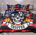 Chopper Skull Print Gothic Gift   Bedding Set Bedroom Decor