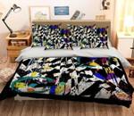 3D Black And White Textured Bedding Set Bedroom Decor