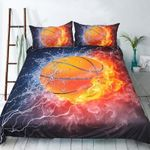 Basketball Sports Water And Fire Bedding Set Bedroom Decor