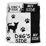 Chihuahua Dog's Side My Side Printed Bedding Set Bedroom Decor