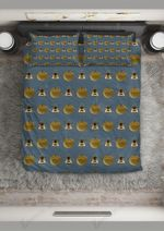 Bee And Apple Pattern Printed Bedding Set Bedroom Decor
