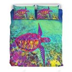 Beautiful Imagine Art Print Watercolor Turtle  Bedding Set Bedroom Decor