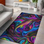 Tie Dye Painting Art 3D Printed Area Rug Home Decor
