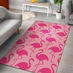 Pink Flamingo Pattern 3D Printed Area Rug Home Decor
