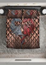 Couple Dragon In Love Printed Bedding Set Bedroom Decor
