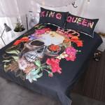 3D Sugar Skull King And Queen   Bedding Set Bedroom Decor