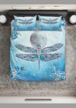 Blue Moon And Sea Printed Bedding Set Bedroom Decor