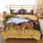 3D Animal Giraffe Printed  Bedding Set Bedroom Decor