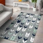 Arrows Gray Navy Pattern 3D Printed Area Rug Home Decor