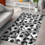 Soccer Balls 3D Printed Area Rug Home Decor
