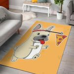 Dog Love Pizza Area Rug Home Decor Gift For Dog Lover