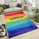 LGBT Transgender 3D Graphic Design Area Rug Home Decor