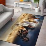 Horse Run 3D Grapic Design Area Rug Home Decor