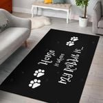 Home Is Where My Rabbit Is 3D Print Design Area Rug Home Decor