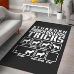 Cookie Stubborn Frence Bulldog Tricks  Area Rug Home Decor