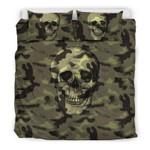 Camouflage With Skulls  Bedding Set Bedroom Decor