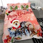Corgi Dogs Lover Merry Christmas Bedding Set Bedroom Decor