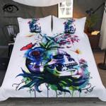Candid Cold Art Skull Printed Bedding Set Bedroom Decor