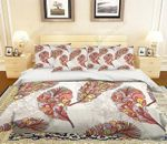 3D Colorful Feathers Bedding Set Bedroom Decor