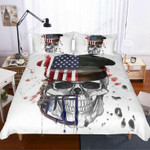 3D America Skull Donna Watercolor  Bedding Set Bedroom Decor