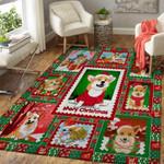 Corgi Dog Lover Merry Christmas 3D Grapic Design Area Rug Home Decor