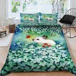 Beautiful Picture Of A White Rabbit  Bedding Set Bedroom Decor