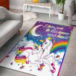 Unicorn I Love You To The Moon And Back 3D Grapic Design Area Rug Home Decor