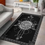 Wicca Triple Moon 3D Printed Area Rug Home Decor