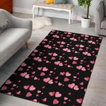 Love Hearts Pattern 3D Printed Area Rug Home Decor