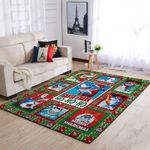 Santa Shark  Merry Christmas 3D Grapic Design Area Rug Home Decor