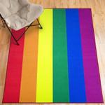 Pride Rainbow Flag Colour Area Rug Home Decor