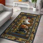 Horse Beautiful Forest 3D Grapic Design Area Rug Home Decor