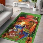 Margaritaville Lime Green Parrot 3D Printed Area Area Rug Home Decors Home Decor