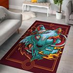 Wolf Pattern Painting Art 3D Printed Area Rug Home Decor