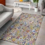 Flower Pattern Smile 3D Printed Area Rug Home Decor