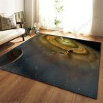 Colorful Space Galaxy Print 3D Grapic Design Area Rug Home Decor