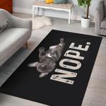 Nope Black Nala  Area Rug Home Decor Gift For Dog Lover