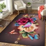 Awesome Butterfly Flower Colourful 3D Grapic Design Area Rug Home Decor