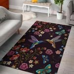 Bohemian Hummingbird Flower Pattern Area Area Rug Home Decors Home Decor