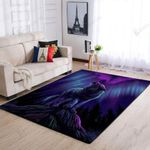 Beautiful Wolf In Night 3D Grapic Design Area Rug Home Decor