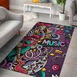 New Music Art Colourful 3D Grapic Design Area Rug Home Decor