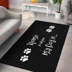 Home Is Where My Dog Is 3D Grapic Design Area Rug Home Decor