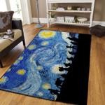Starry Night Painting Art 3D Printed Area Area Rug Home Decor Decor Home Decor